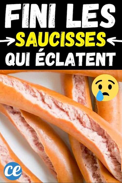 Comment ne pas faire éclater les saucisses de Francfort ?